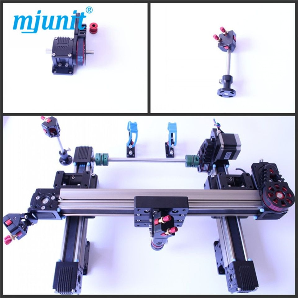 mjunit 1600x1000mm stroke one head laser kit smooth motion belt driven wheel laser machine rail