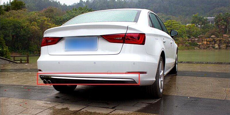 Exterior Rear Bumper Bottom Cover Trim Stainless Steel 1 PCS For Audi A3 8V 2012 2013 2014 2015 2016 2017 2018 Sedan
