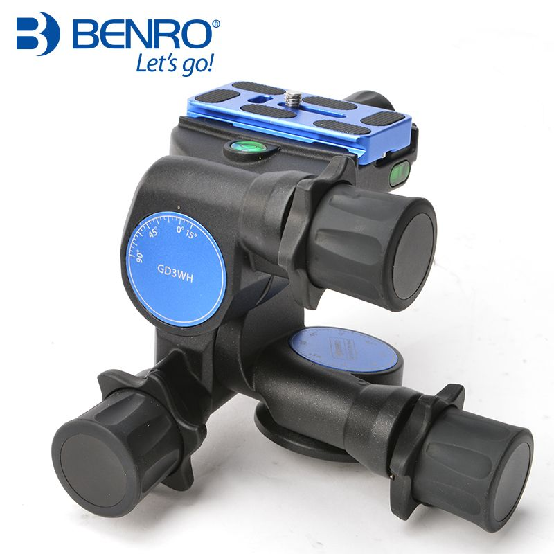 Benro GD3WH three-dimensional gear head PTZ magnesium alloy SLR photography tripod Panoramic photography head load 6kg