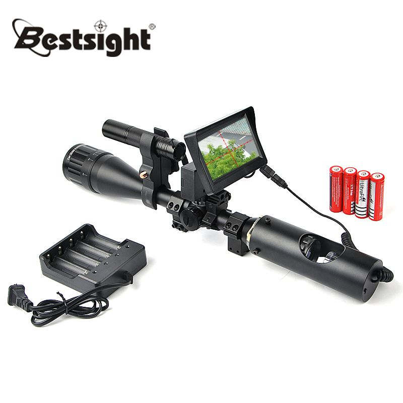 Tactical Digital Infrared Night Vision Riflescope With Battery Charger LCD and IR Flashlight Night Sight Hunting Scopes