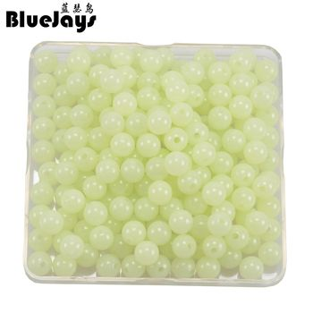 new arrived 300pcs/lot Luminous Beads 6mm 8mm 10mm Luminous Block Pearl Fishing Lure Accessoires Fishing Tackle free shipping