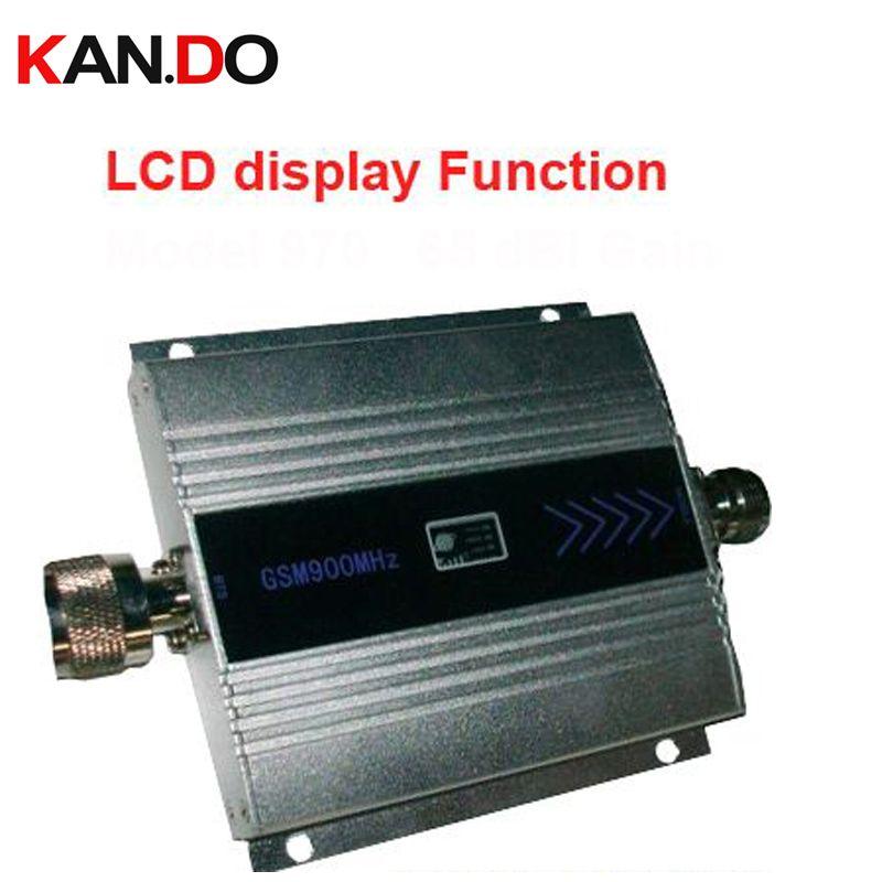 Nouveau gain de modèle fonction d'affichage LCD 55dbi max.500square mètres GSM 900 Mhz téléphone mobile amplificateur de signal et répéteur