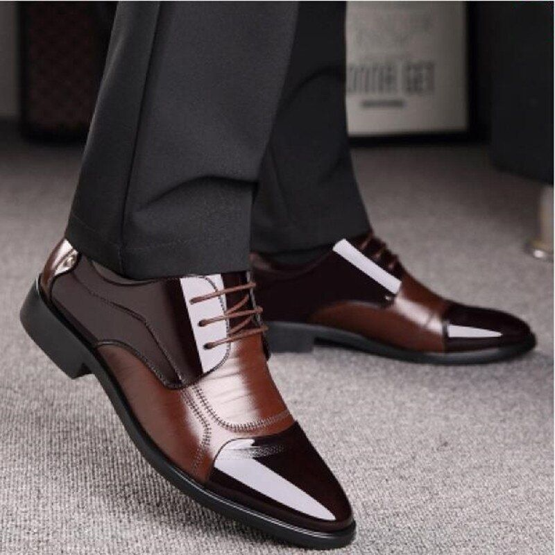 Nouveau printemps mode Oxford affaires hommes chaussures en cuir véritable de haute qualité doux décontracté respirant hommes appartements Zip chaussures
