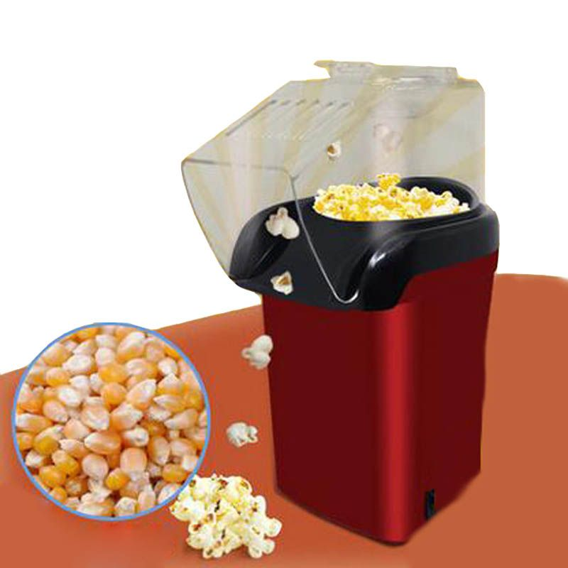 Mini Household Electric Popcorn Maker Machine Automatic Red Corn Popper Natural Hot Air Popcorn Maker corn Home use For kids