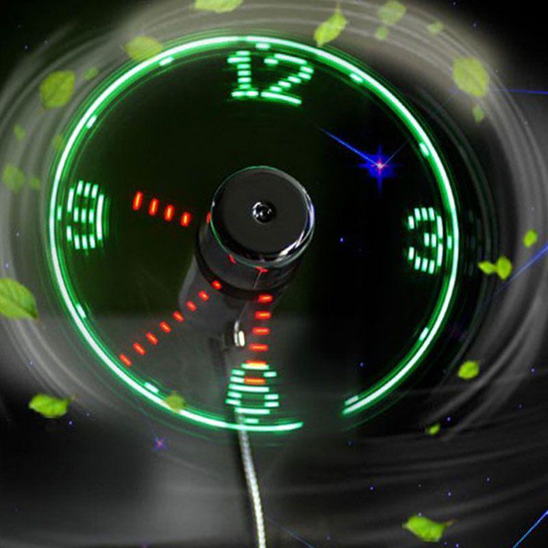 Night light summer new ideas USB LED fan lamp mini clock display real time clock timing luminous Wrist watch Small USB fan