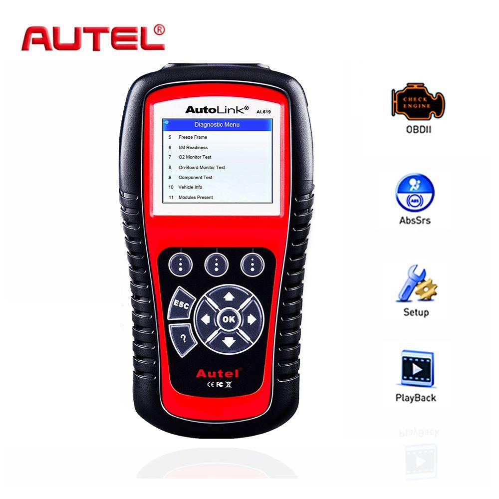 Autel OBD2 Scanner Autolink AL619 Car Diagnostic Tool Automotive Scanner Engine,ABS,SRS,Airbag Auto Car Code Reader