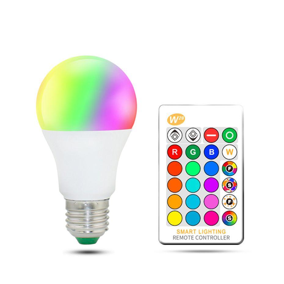 LED RGB Lampe lampe AC85-265V Spot licht dimmbare magie Urlaub RGB beleuchtung + IR Fernbedienung 16 farben 5 watt 10 watt 15 watt