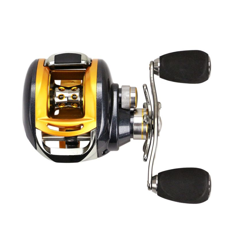 YUMOSHI 12+1BB Left Right Hand Halleluyah wheel Fishing reel Metal wire cup <font><b>Speed</b></font> Ratio 6.2:1 Centrifugal magnetic Brake