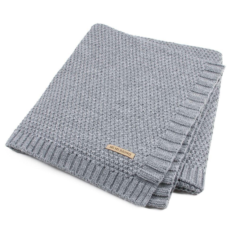 Couverture de bébé tricoté nouveau-né couvertures à langer Super doux bambin infantile literie couette pour lit canapé panier poussette couvertures