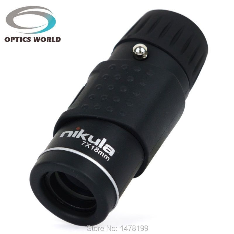 Nikula 7x18 147M\1000M Portable Outdoor Monocular Telescope Mini Golf Rangefinder Pocket Monocular Scope