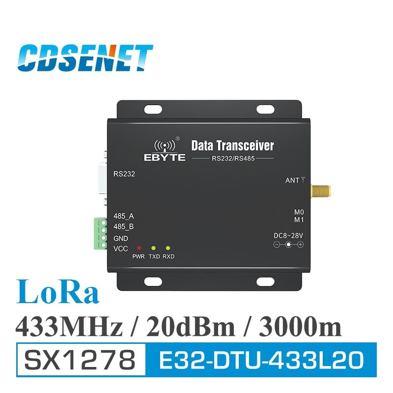 1pc 433MHz LoRa SX1278 RS485 RS232 rf DTU Transceiver E32-DTU-433L20 Wireless uhf Module 433M rf Transmitter and Receiver