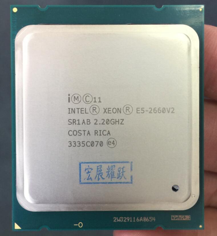 Intel Xeon Prozessor E5-2660 V2 E5 2660 V2 LGA 2011 CPU Zehn Kerne Xeon Prozessor E5 2660V2 SR1AB Server Desktop CPU