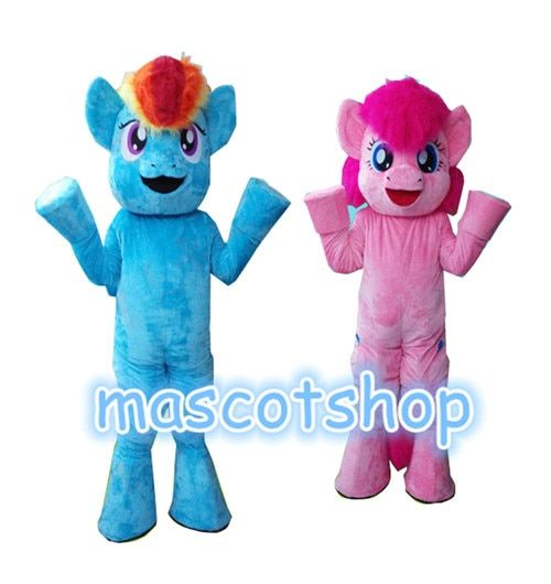 My Little Pony Characters Mascot Costumes Adult Unisex Suit For Halloween Christmas