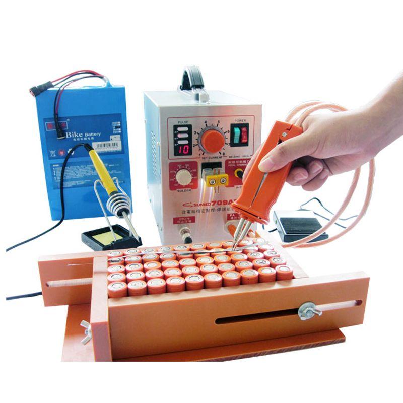 SUNKKO 709AD Spot welder 2.2KW High power battery Spot Welding Machine 18650 16430 Spot welder 18650 Pulse spot welders 110 230V