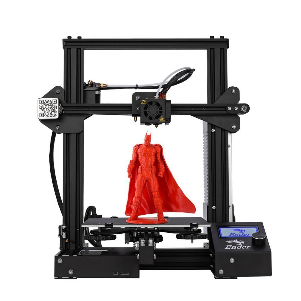 Nouveau Ender-3 imprimante 3D kit de bricolage v-slot prusa I3 mise à niveau reprise mise hors tension Ender-3X grande taille d'impression 220*220*250 Creality 3D