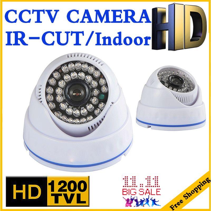 328 BigSale 1200tvl Cmos HD CCTV Caméra IRCUT infrarouge de Vision Nocturne 35 m Grand Angle intérieur MAISON Dôme de sécurité de Surveillance vidicon