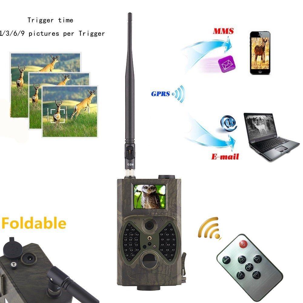 Caméras de piste de cerf chasse 12MP 1080 P Photo piège mouvement déclencheur Vision nocturne faune GSM caméra CE ROHS caméra de chasse hc300m
