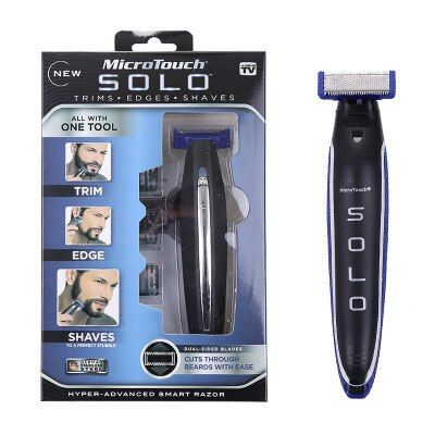 Dropship Micro Touch SOLO Rechargeable Shaver Men Personal Hair Cleaning Shaver Trimmer and Edger Hyper-Advanced Smart Razor