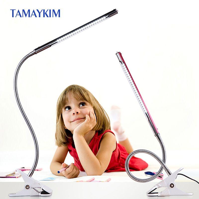 -Cuidado de los ojos Lámpara de Escritorio LED Clip de la Luz de la Lectura del USB Luz Abrazadera 3 Modelo de Iluminación, Luz de Noche, alto brillo, interfaz USB