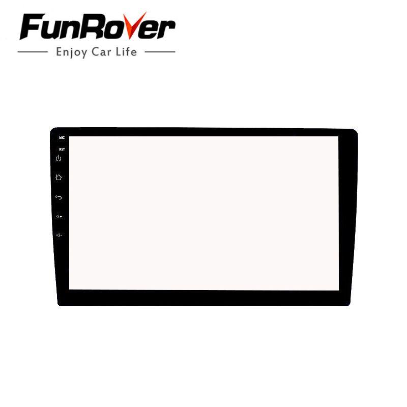 Autocollant de Film de protection en verre trempé pour voiture Funrover pour Radio stéréo 9 pouces DVD GPS tactile écran LCD complet livraison gratuite