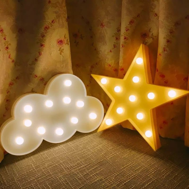 Nordic 3D LED Star/Moon/Рождество дерево/облако ночник для детской комнаты украшения фото реквизит Дети света рождественский подарок