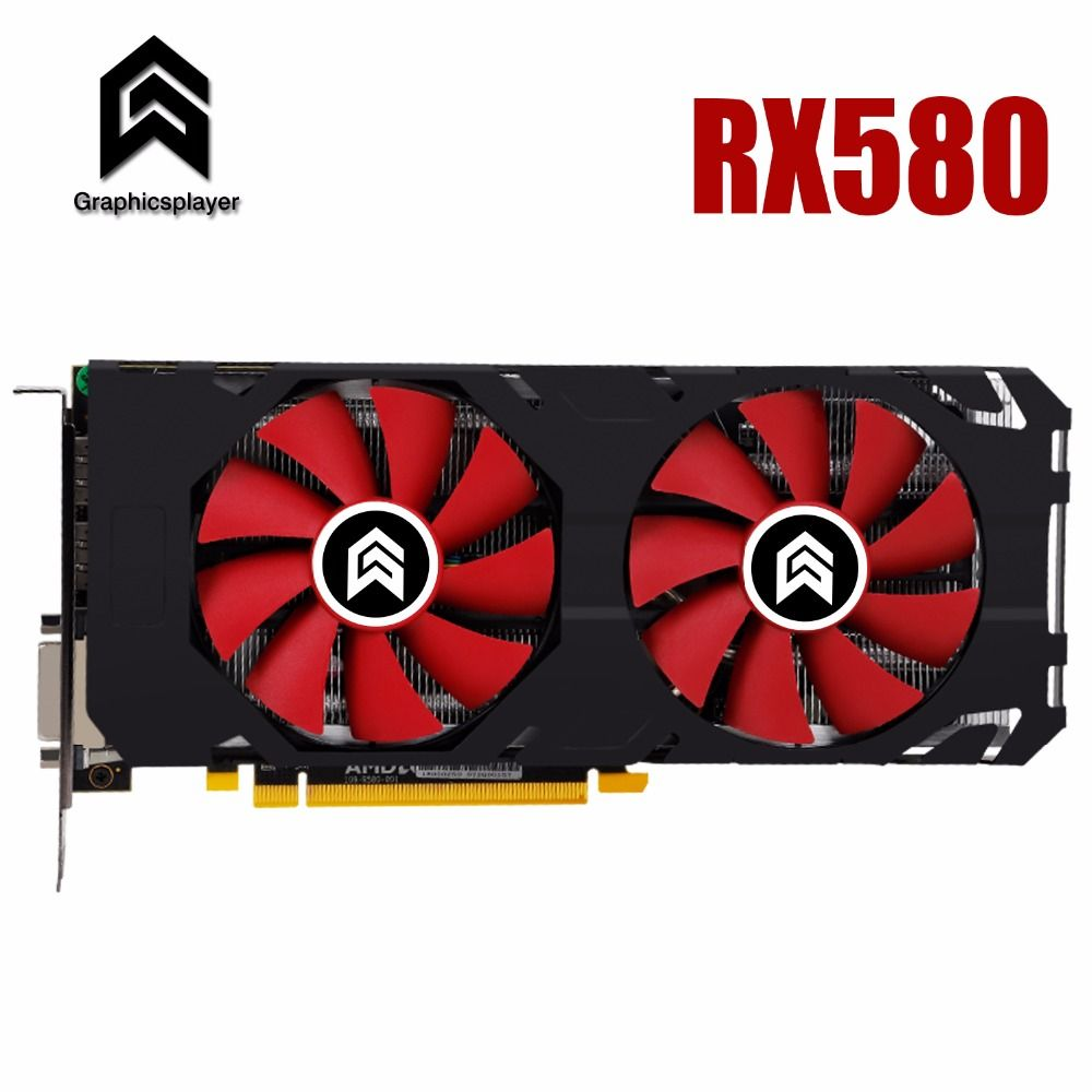 Graphic Card PCI-E 16X 3.0 RX580 GPU 8G DDR5 for ATI Radeon Original chip Computer PC game Video card