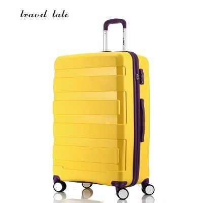 Travel tale 20/24 inch Super light PP grind arenaceous Rolling Luggage Spinner brand Travel Suitcase Fashion travel