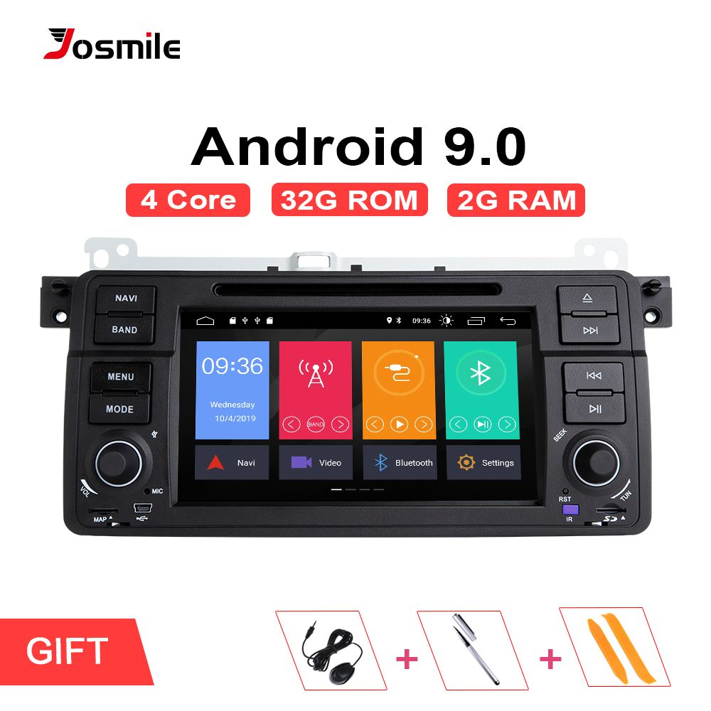 Josmile 1 Din Android 9.0 GPS Navigation Für BMW E46 M3 Rover 75 Coupe 318/320/325/330 /335 auto Radio Auto DVD Player Stereo Wifi