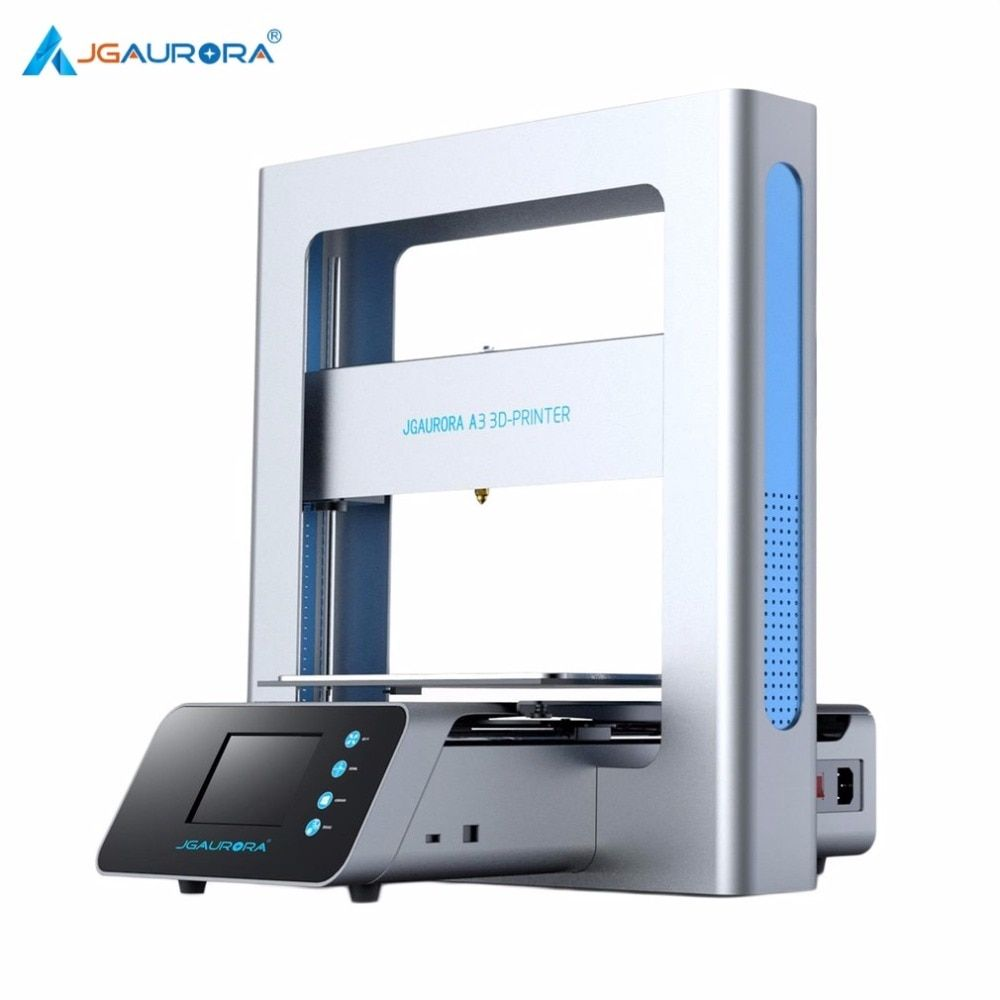 JGAURORA Portable 3D Printer Full Metal Frame High Precision Large Printing Size USB Printing Machine LCD Touch Screen Display
