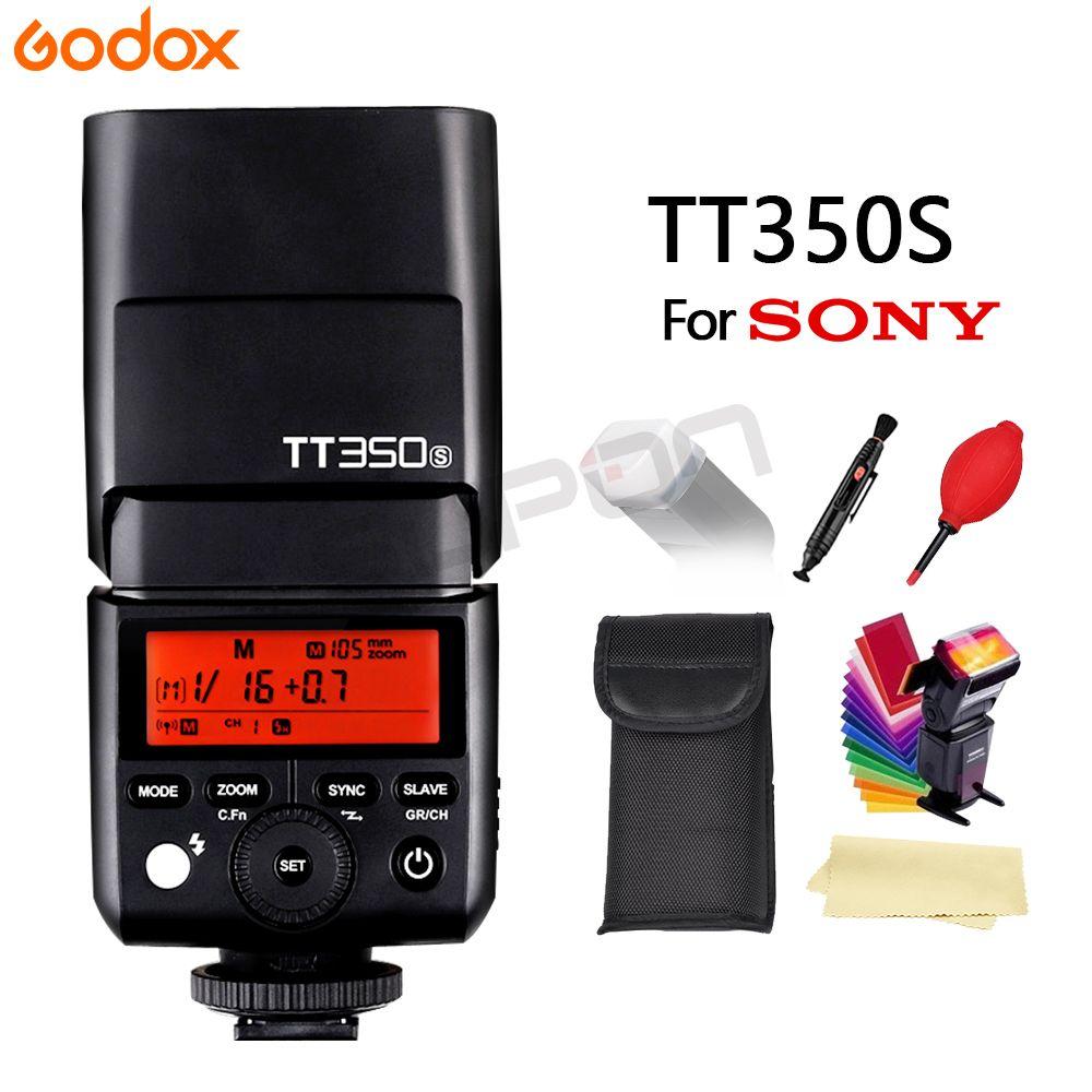 100% qualité d'origine Godox TT350S GN36 2.4G TTL caméra Flash Speedlite pour appareil photo Sony cadeau gratuit