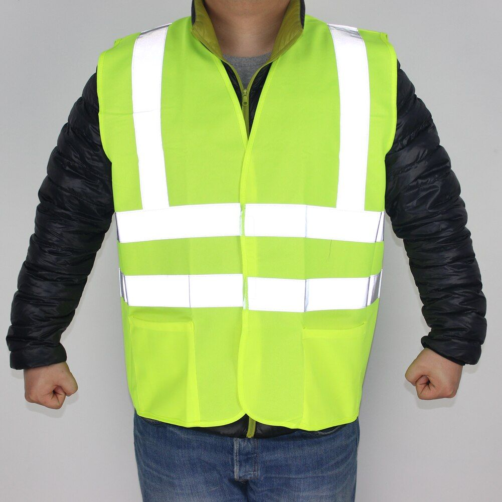 Encell Reflective Safety Clothing High Visibility for Working Outdoor Warning Light Shirt Car Styling Outdoor Vest FGYLA001