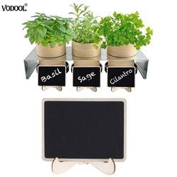 VODOOL Mini Wooden Blackboard Stand Message Boards Clips Standing Note Chalkboard for Wedding Party Coffee Bar Decoration