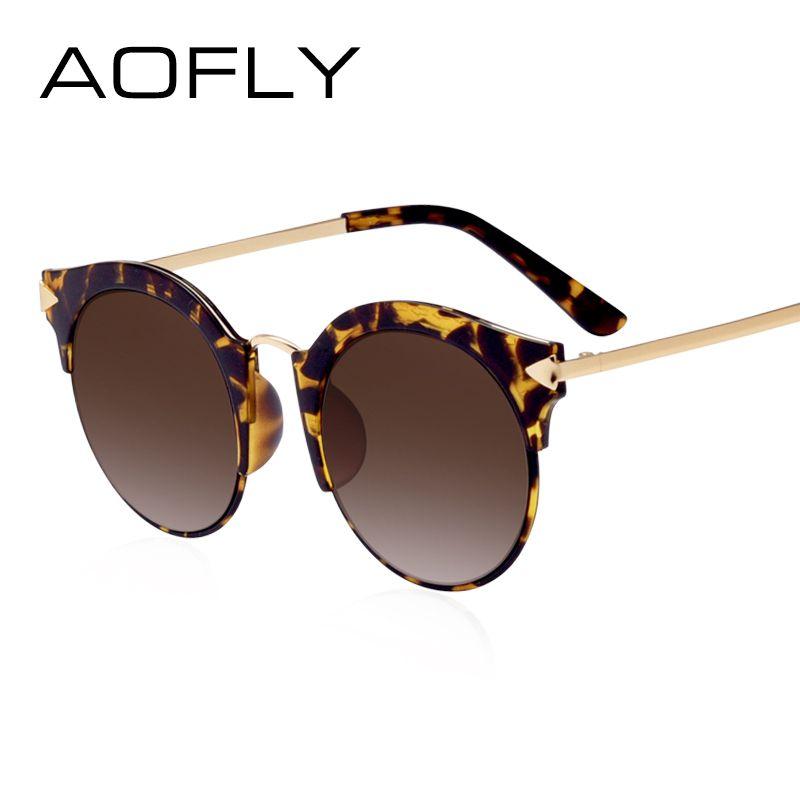 AOFLY Dames lunettes de Soleil 2017 Semi-Sans Monture Lunettes de Soleil Pour Femmes Marque Design Miroir Eyewears Protection UV400 Avec Cas AF79153