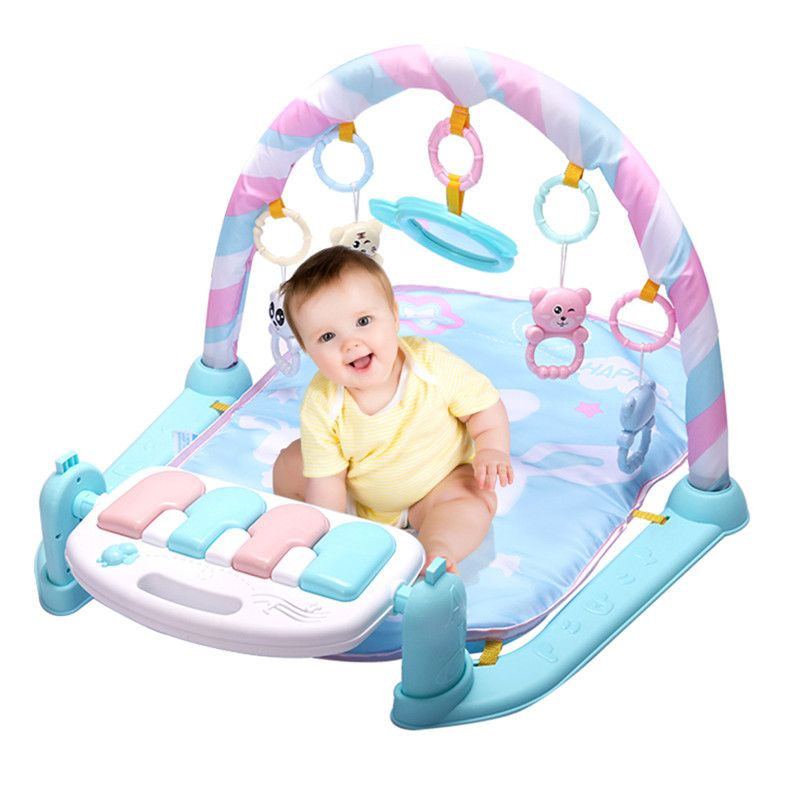 Baby Play Mat Fitness Bodybuilding Frame <font><b>Pedal</b></font> Piano Music Carpet Blanket Activity Gym Kick Play Lay Sit Toy For Newborns Babies