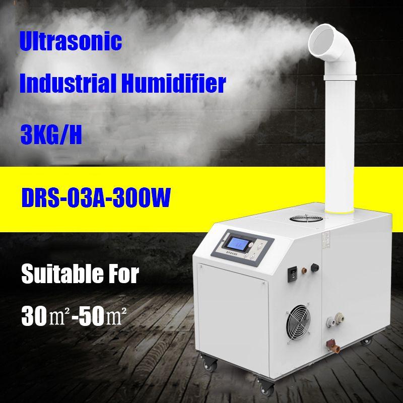 DRS-03A Industrie Ultraschall-luftbefeuchter Zerstäubung Stumm Befeuchtung Maschine Kommerziellen Diffusor für Keller Werkstatt