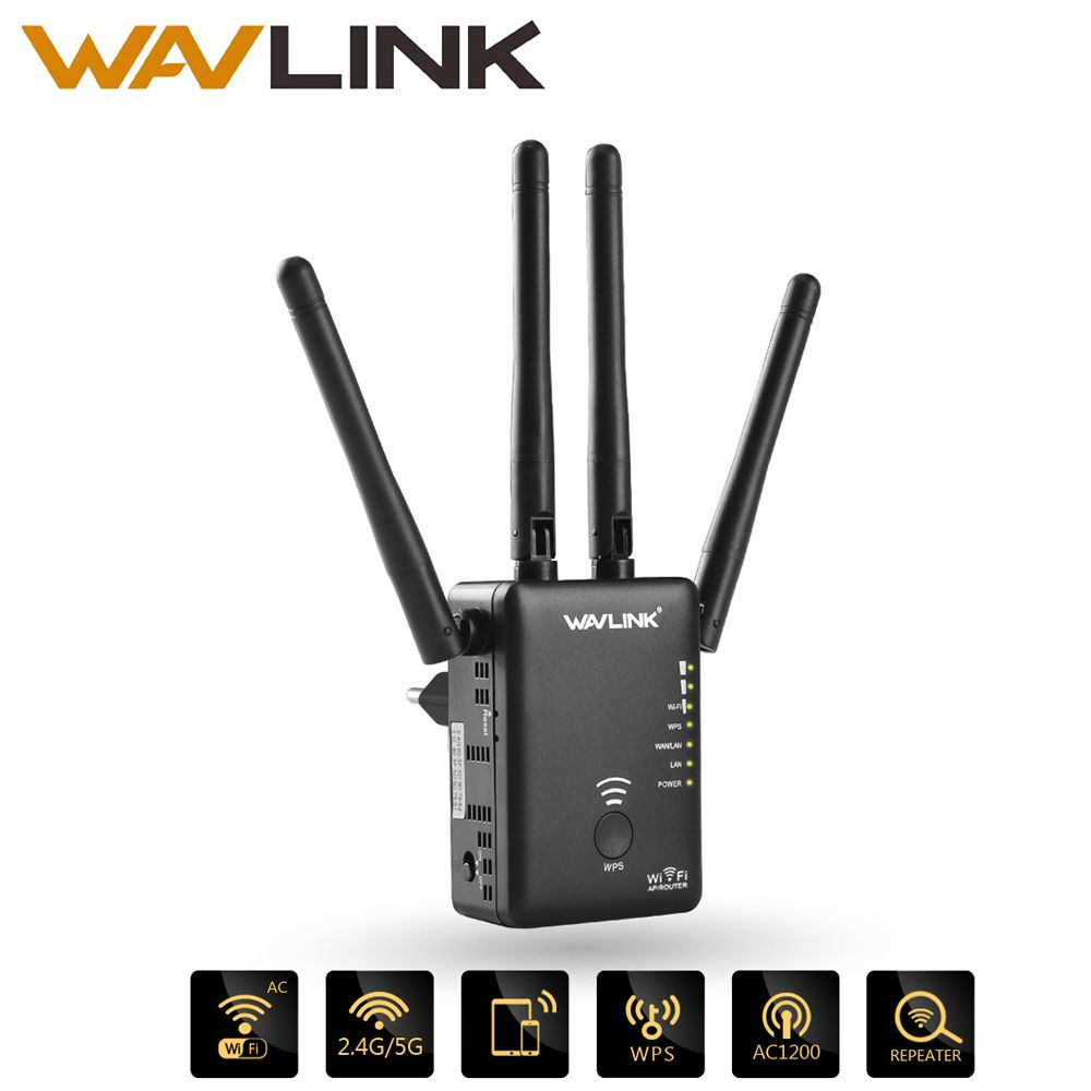 Wavlink AC1200 WIFI Repeater/Router/Access point Wireless Wi-Fi Range Extender wifi signal amplifier with <font><b>External</b></font> Antennas Hot