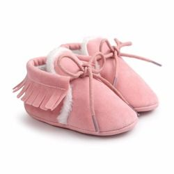 Baby Moccasins Infant Soft Moccs Shoes Bebe First walkers Fringe Soled Non-slip Footwear Crib Shoes PU Leather