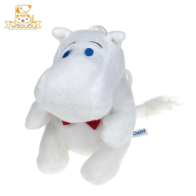 Chubby Mumin Flusspferde Hippopotamus Anhänger Nette Tiere Fett Kawaii Cartoon Plüsch Keychain Gefüllte Spielzeug Soft Horse Puppen Kid Geschenke