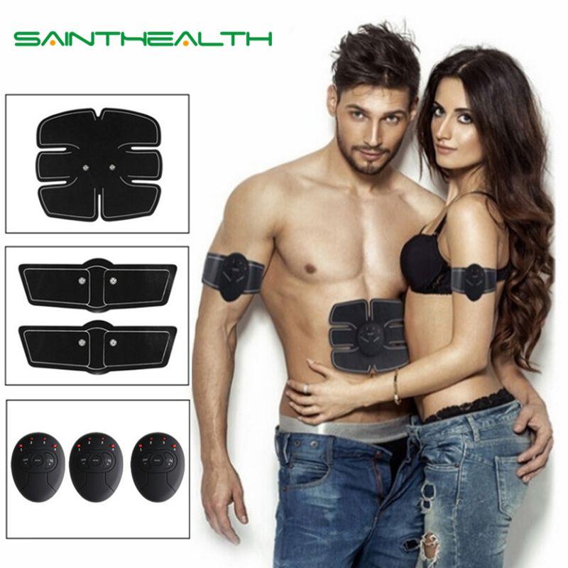 Abdominale machine électrique stimulateur musculaire ABS Formateur ems remise en forme perte de Poids Corps minceur De Massage avec la boîte de détail doux