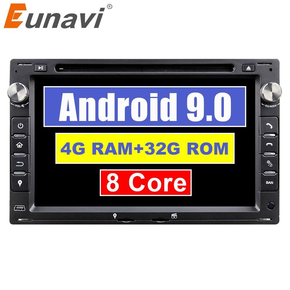 Eunavi Octa Core 4 GB RAM 32 GB Flash Android 9.0 7 zoll Auto DVD Player GPS Für VW Glof Bora passat Mk5 Golf Mk4 Polo Jetta Sitz