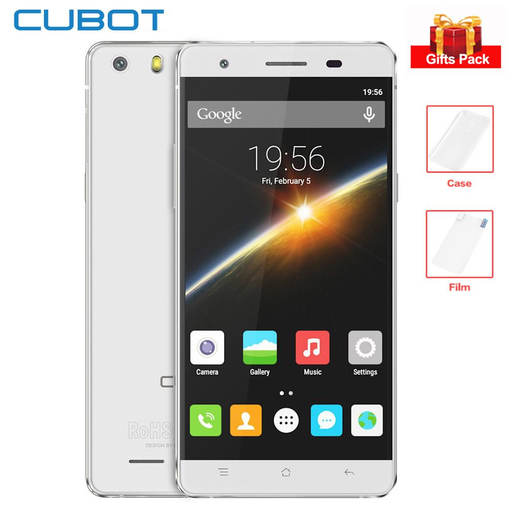 Original Cubot X16S 5.0'' HD IPS Screen 4G Smartphone 3GB+16GB MTK6735 Quad Core 1.3GHz 8MP 2700mAh Android Mobile Phone GPS OTG