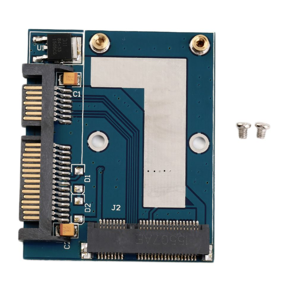 Neue Heiße Mini PCI-e Msata 2,5 Sata Adapter-konverter-karte Modul Blau Bord Großhandel dropshipping