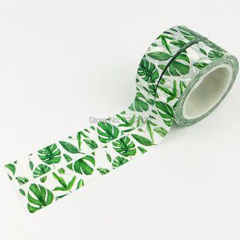 15mm X 10 m Mignon Belle Plante Vert Feuilles Décoratif Washi Bande Papier DIY Scrapbooking Masquage Bande Bureau de L'école fournir