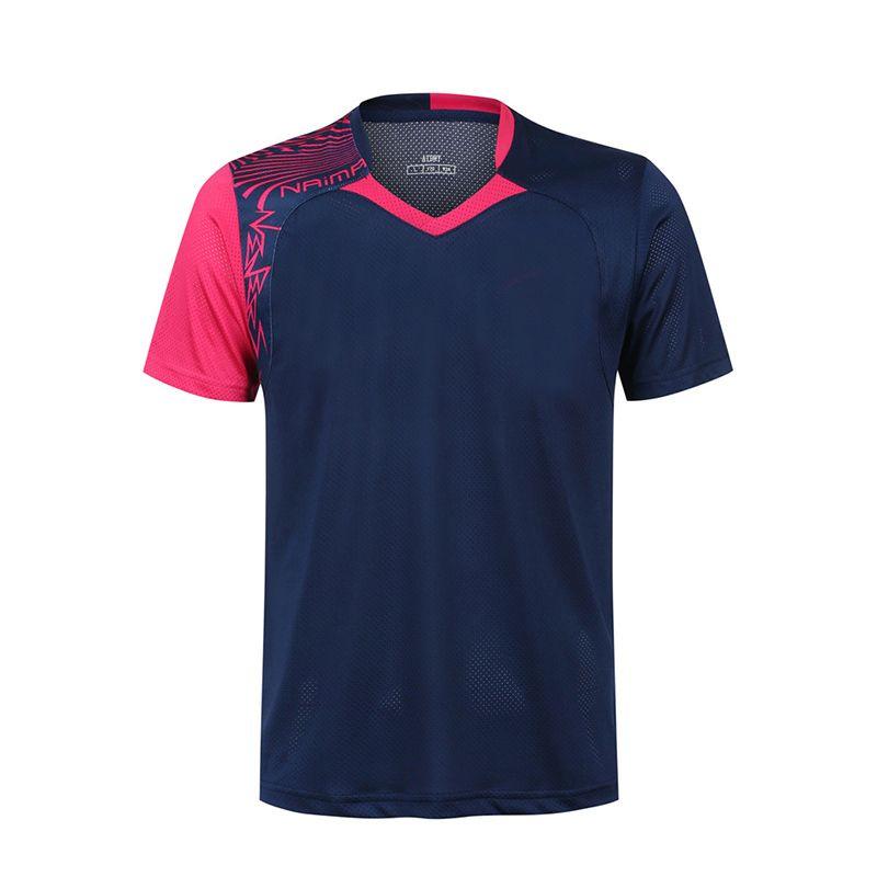 Freies Drucken Badminton shirt Männer/Frauen, sport badminton t-shirt, Tischtennis shirts, tennis tragen dry-kühlen hemd 5062