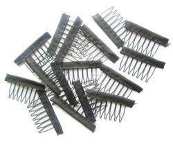30 pcs Noir couleur fil perruque peignes en plastique clips pratique pour cheveux full lace perruques cap accessoires styling outils