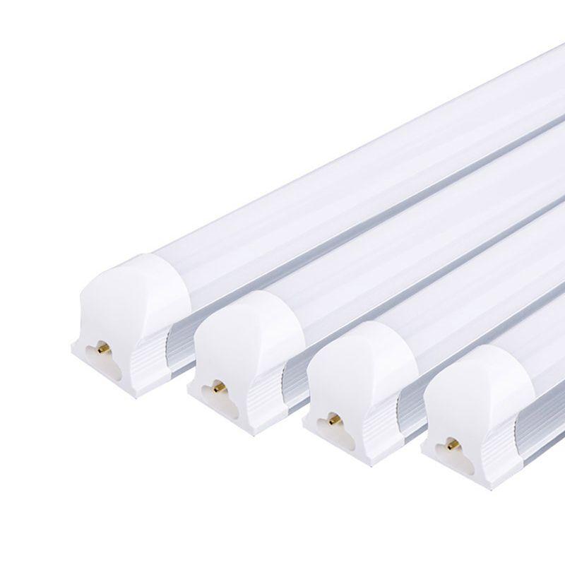 4 pièces T8 Tube de LED 9W 2ft = 60cm 12W 3ft = 90cm 220V PVC plastique Tube fluorescent LED blanc froid blanc chaud pour salon cuisine
