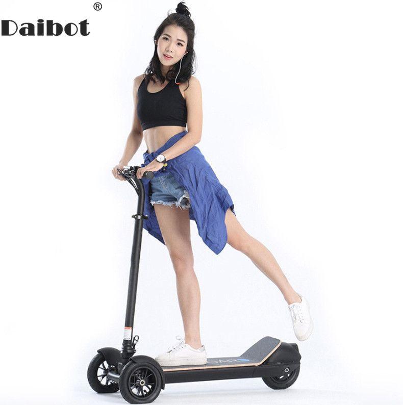 Daibot Elektrische Roller 48V Drei Rad Elektro-scooter 8,5 Zoll 450W ES Board Faltbare Tretroller Für Erwachsene kinder