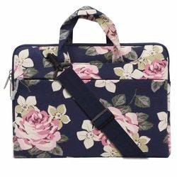 Mosiso Floral Rose Women Notebook Case bag for Macbook Air 13 HP DELL Acer Chromebook 11.6 13.3 14 15.6 Loptop Briefcase