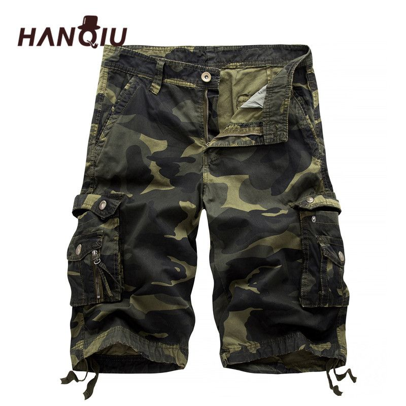 2018 Military Camo Cargo Shorts Summer Fashion Camouflage Multi-Pocket Homme Army Casual Shorts Bermudas Masculina