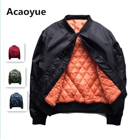 2017 Winter Hip Hop Leisure Brand GD Right-wing MA1 Baseball Flight Suit cotton Jacket Men Women Chinese Characters Coat